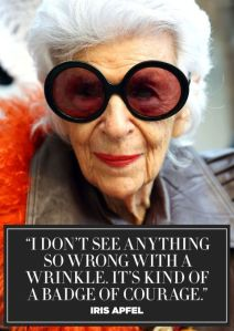 Fashion icon Iris Apfel.